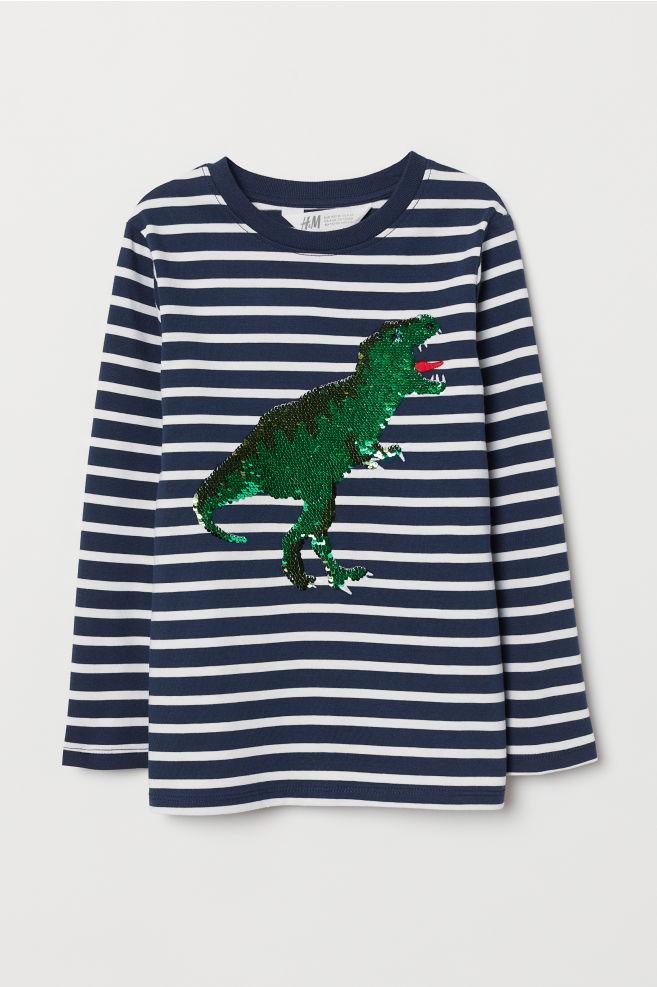 526860653124c T-shirt avec motif - Rayé dinosaure - ENFANT