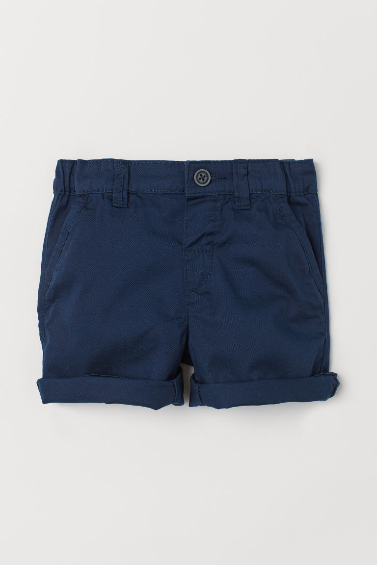 Cotton shorts - Dark blue - Kids | H&M GB
