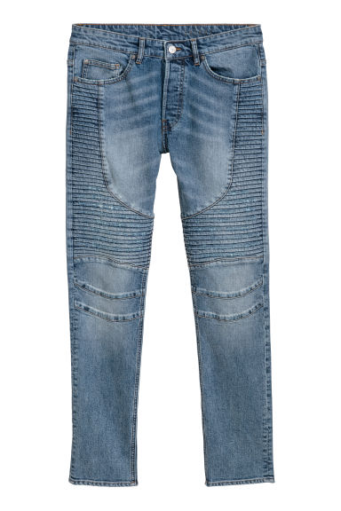 Skinny Biker Jeans - 牛仔蓝 - Men | H&M CN