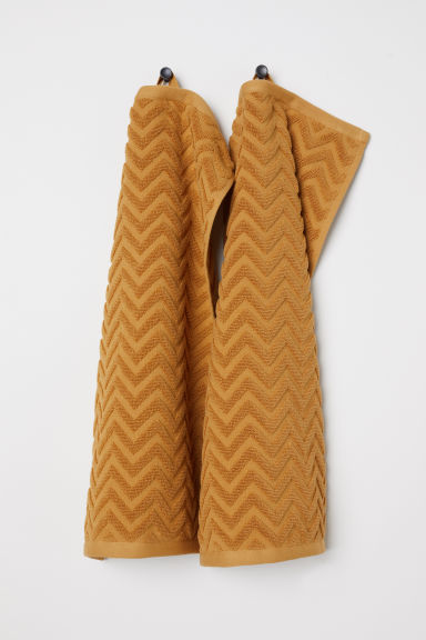 2-pack guest towels - Dark mustard yellow -  | H&M CN
