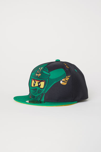 Cap with a motif - Black/Ninjago - Kids | H&M CN