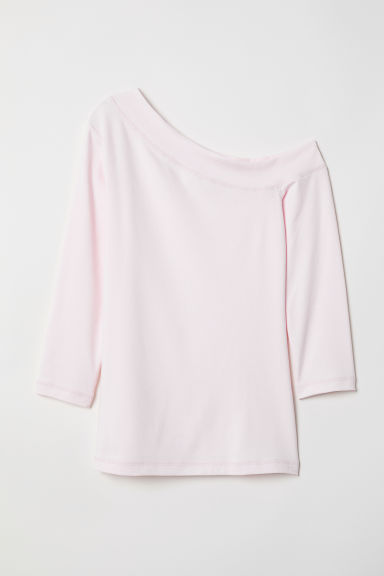 One-shoulder top - Light pink - Ladies | H&M