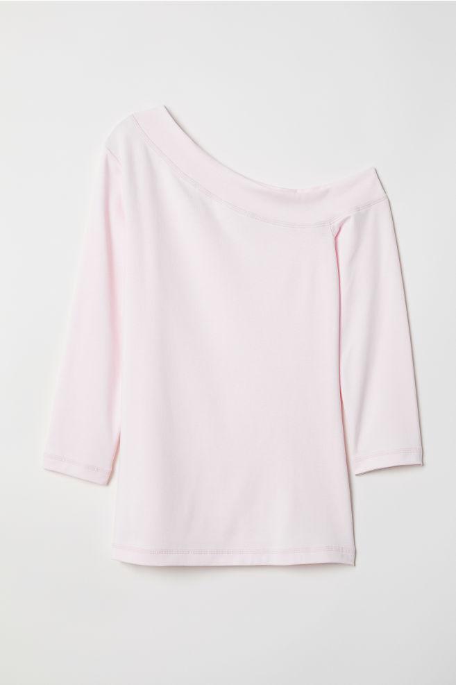 Félvállas felső - Világos rózsaszín - NŐI  e673aa5237