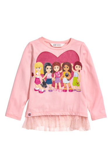 Top en jersey - Rose clair/Lego -  | H&M BE