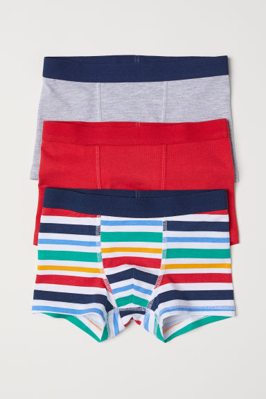 3-pack boxer shorts - Red/Striped - Kids | H&M CN