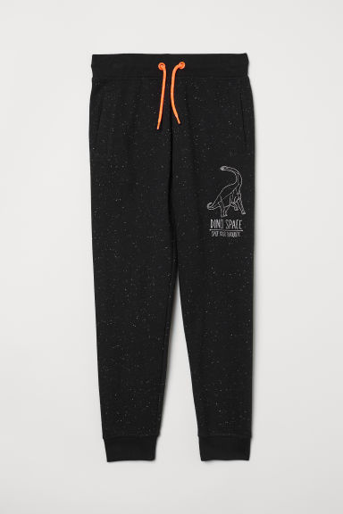 Joggers - Black/Nepped - Kids | H&M