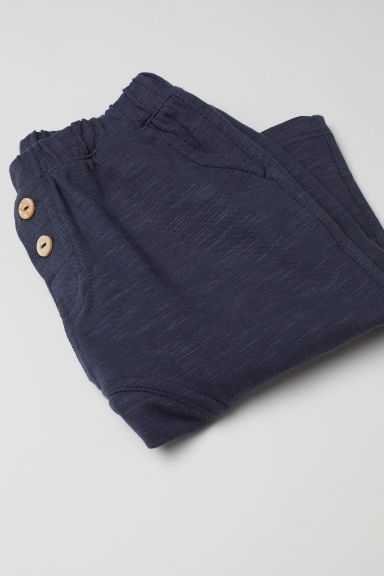 Cotton trousers - Dark blue - Kids | H&M