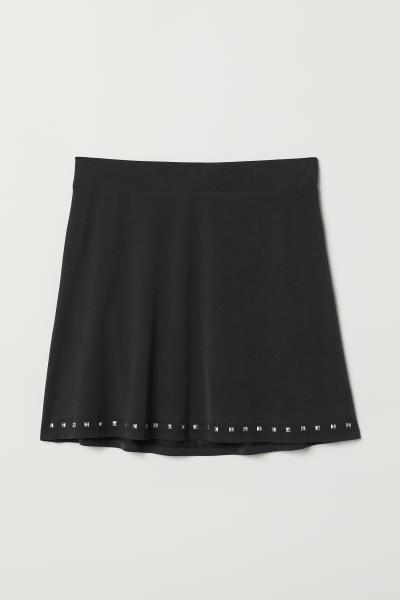 H&M - Jersey skirt with studs - 1