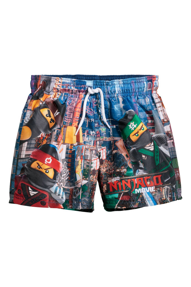 2d240df6de Swim shorts - Dark blue/Ninjago - Kids | H&M ...
