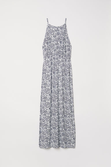 Maxi dress - White/Botanical - Ladies | H&M