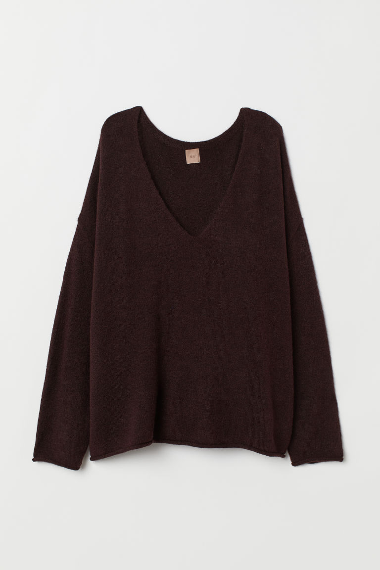 H&M+ Pullover in maglia - Bordeaux - DONNA | H&M IT