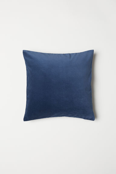 Velvet Cushion Cover - Dark blue - Home All | H&M CA