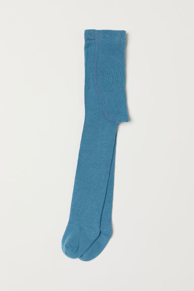 Fine-knit tights - Turquoise - Kids | H&M CN