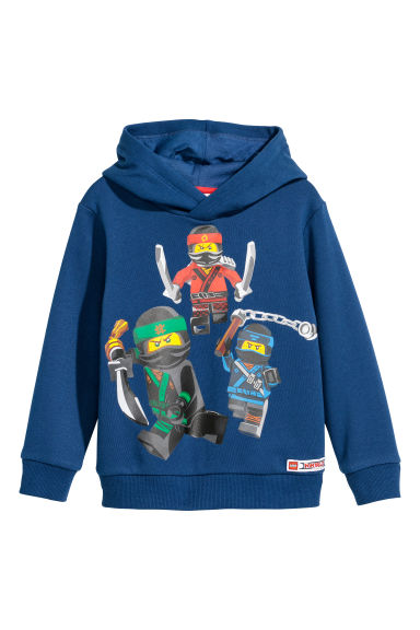 Printed hooded top - Dark blue/Ninjago - Kids | H&M