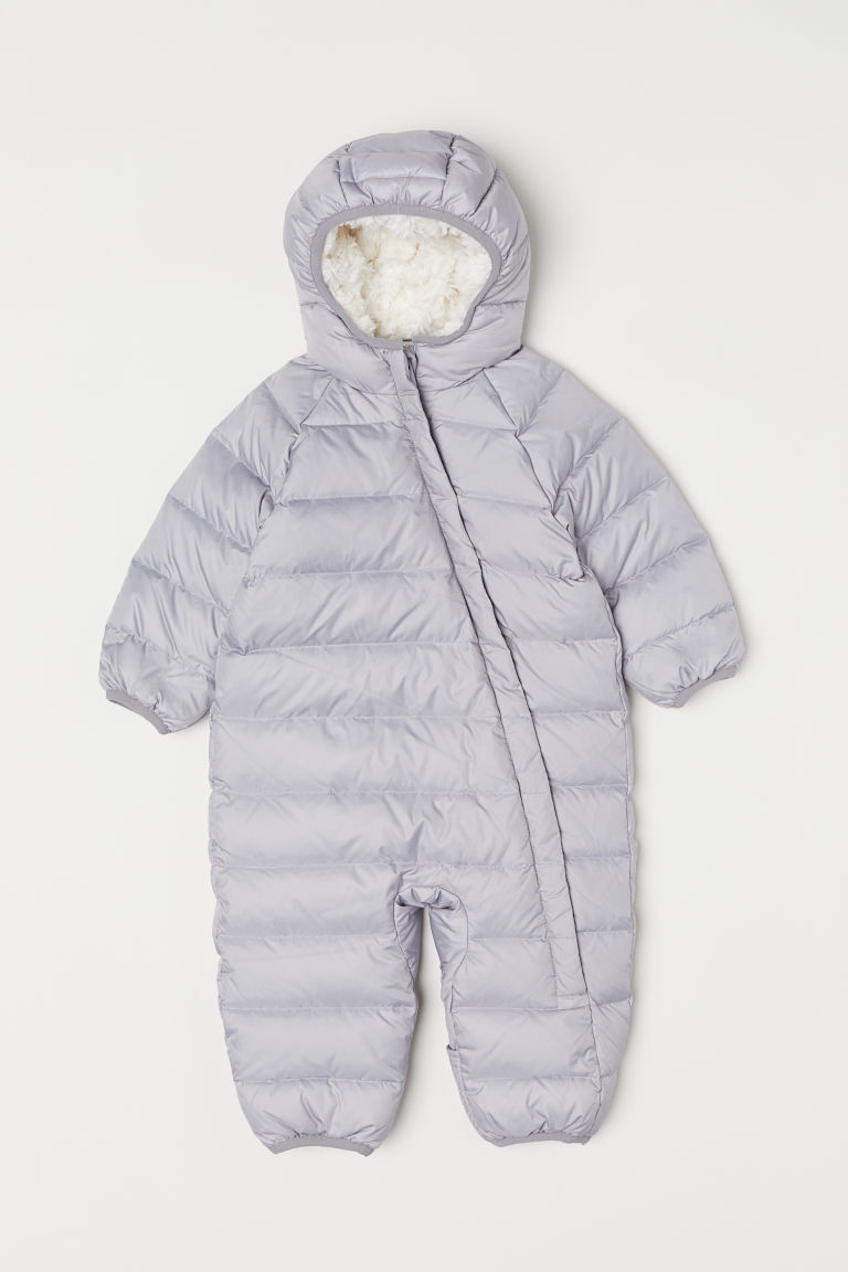 Down all-in-one suit - Light grey - Kids | H&M