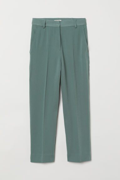 Ankle-length suit trousers - Green - Ladies | H&M CN