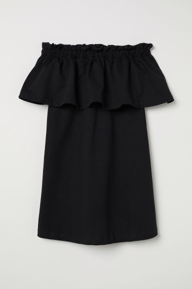 Off-the-shoulder Dress - Black - Ladies | H&M CA