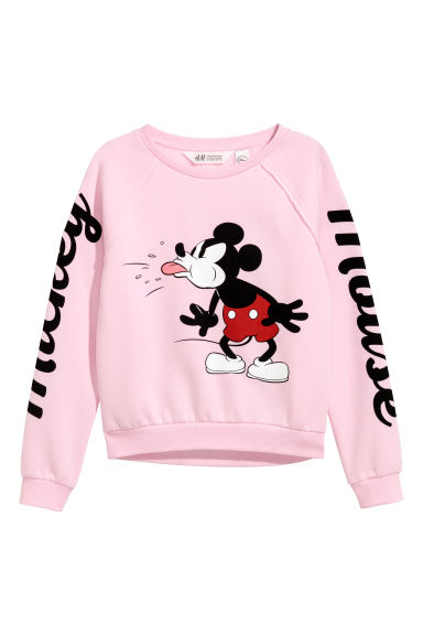 Printed sweatshirt - Light pink/Mickey Mouse - Kids | H&M CN