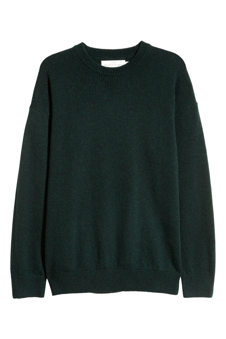 Wool-blend jumper - Dark green - Men | H&M IE