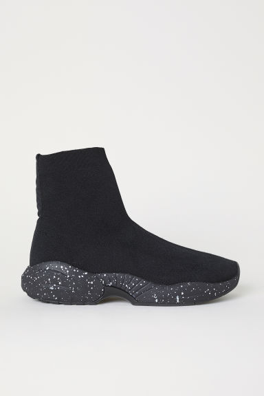 Fully-fashioned trainers - Black/White spotted - Men | H&M
