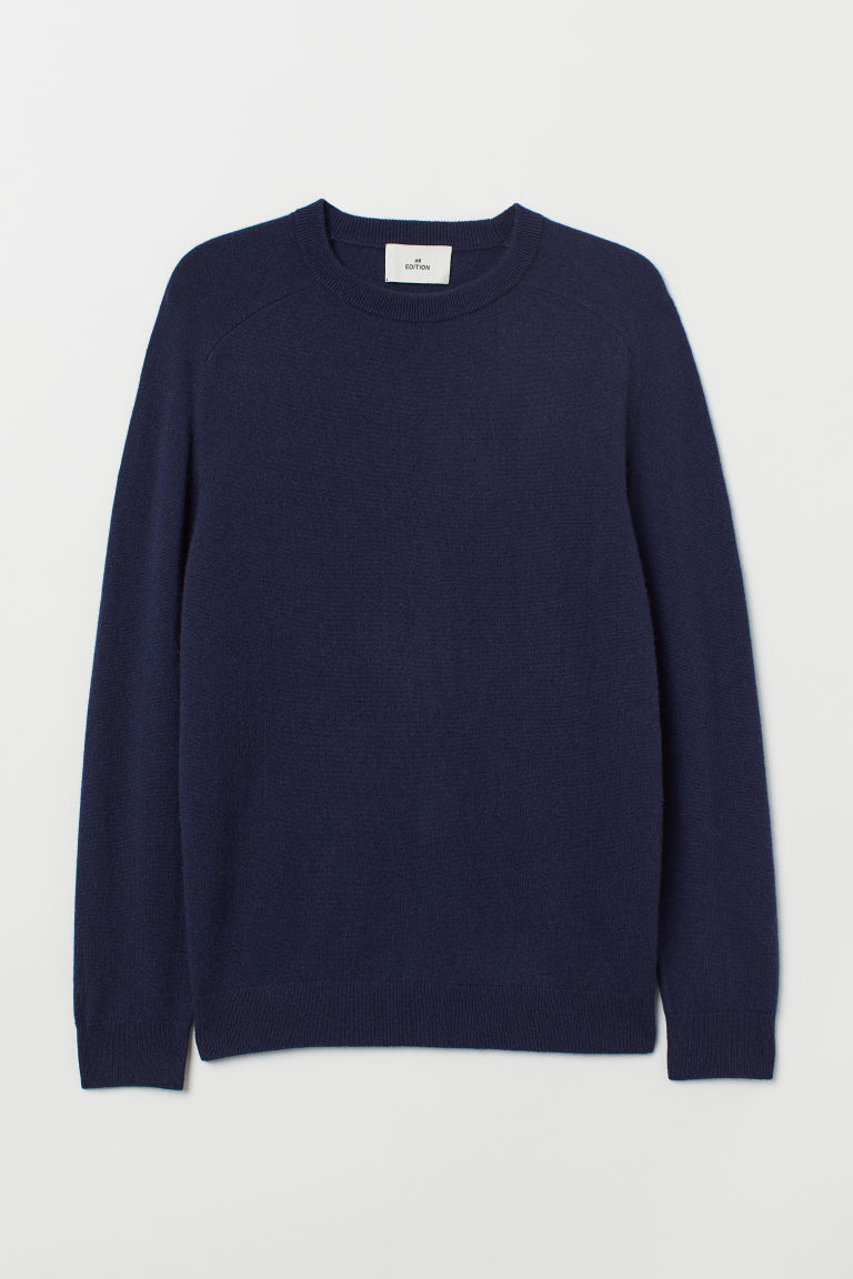 Pullover in cashmere sottile - Blu scuro - UOMO | H&M IT