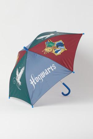 H&M 키즈 해리포터 우산 Color-block Umbrella,Blue/red/green