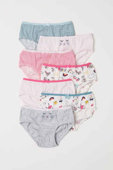 7-pack cotton briefs - Pink - Kids | H&M