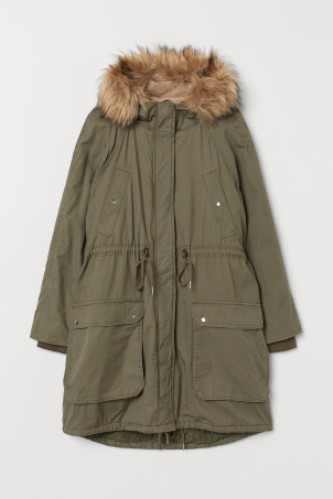 H&M+ Cotton twill parka
