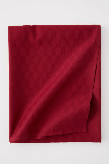 Jacquard-weave tablecloth - Dark red - Home All | H&M CN