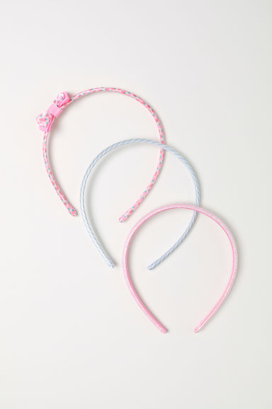 3-pack Alice bands - Light pink -  | H&M