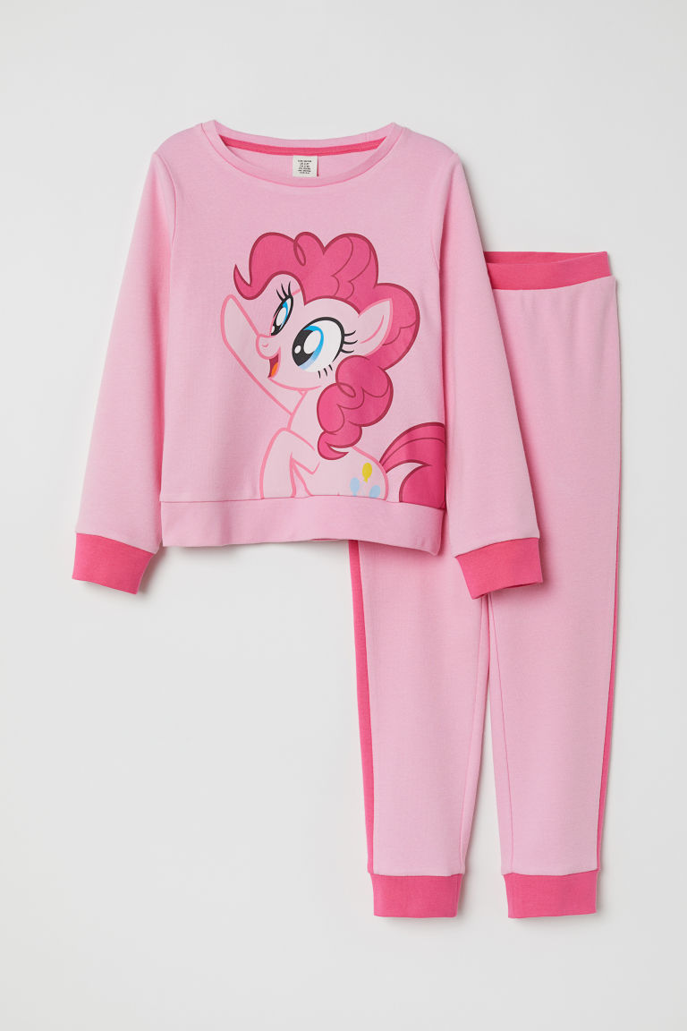 Sweatshirt pyjamas - Pink/My Little Pony - Kids | H&M CN