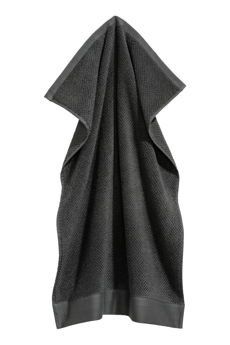 Cotton hand towel - Dark grey - Home All | H&M CN