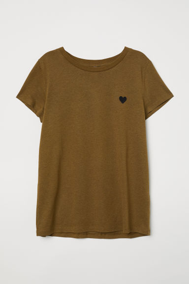 T-shirt - Khaki green - Ladies | H&M