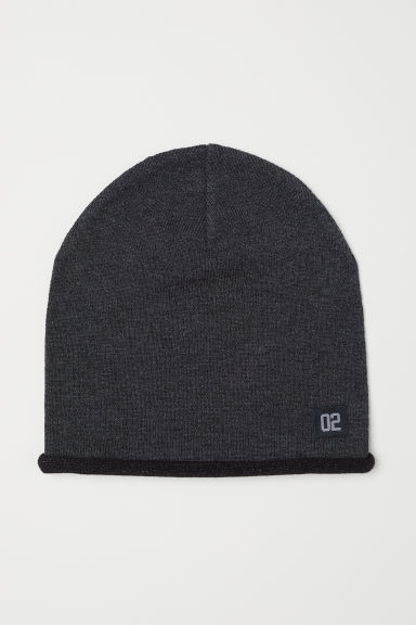 Fine-knit hat - Dark grey marl/02 - Kids | H&M