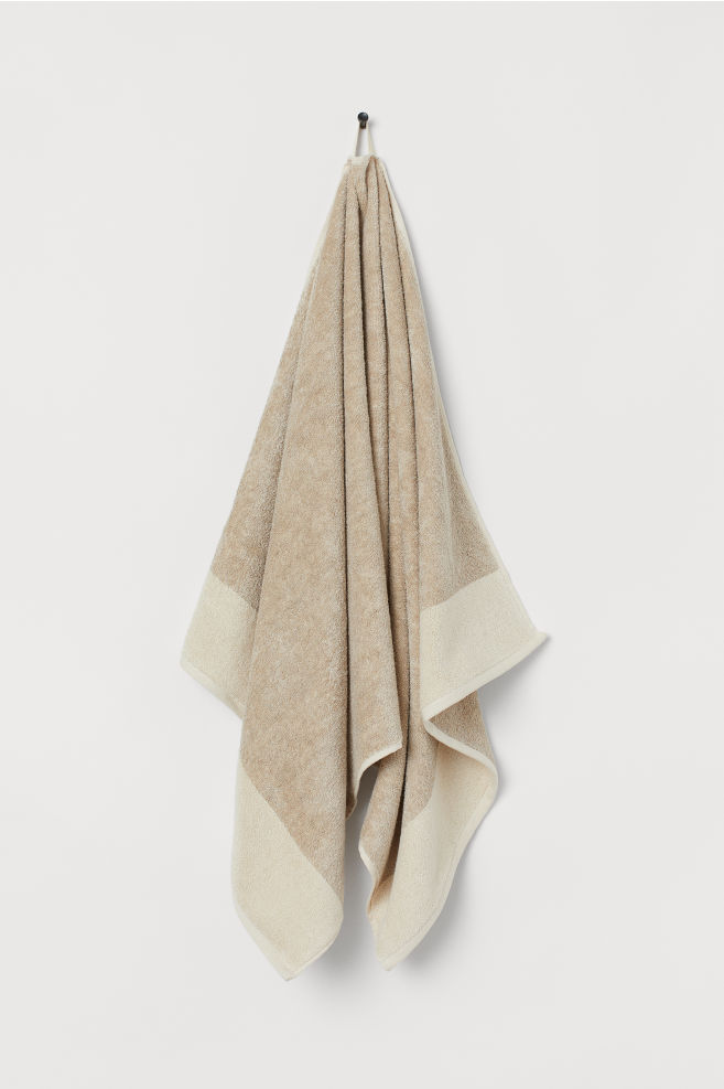 Linen Blend Bath Towel Light Beige Home All H M Gb