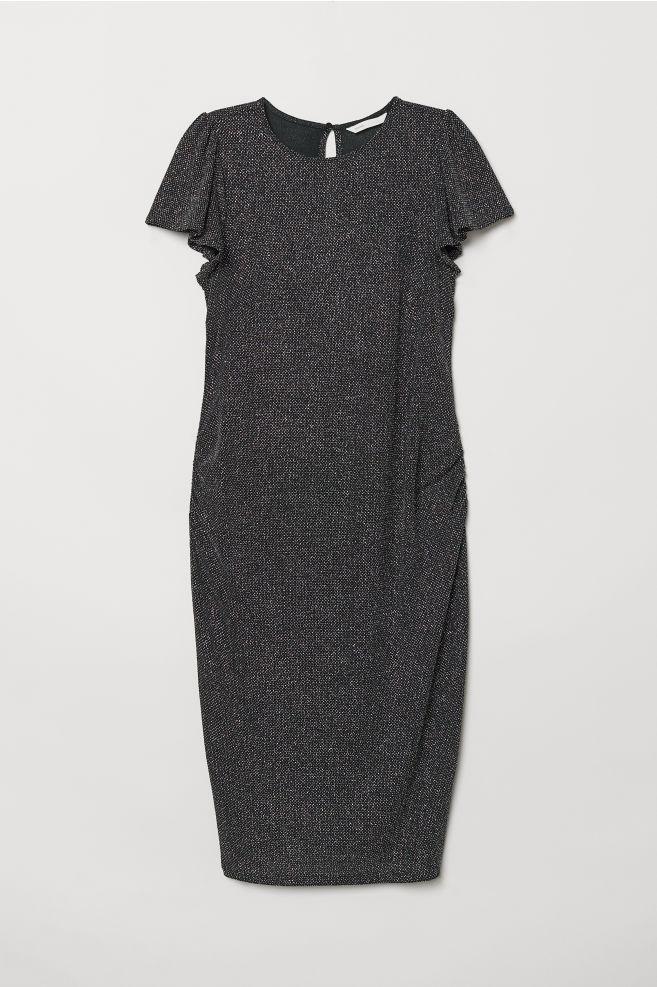 b9a4f0dcea2 MAMA Robe pailletée - Noir scintillant - FEMME