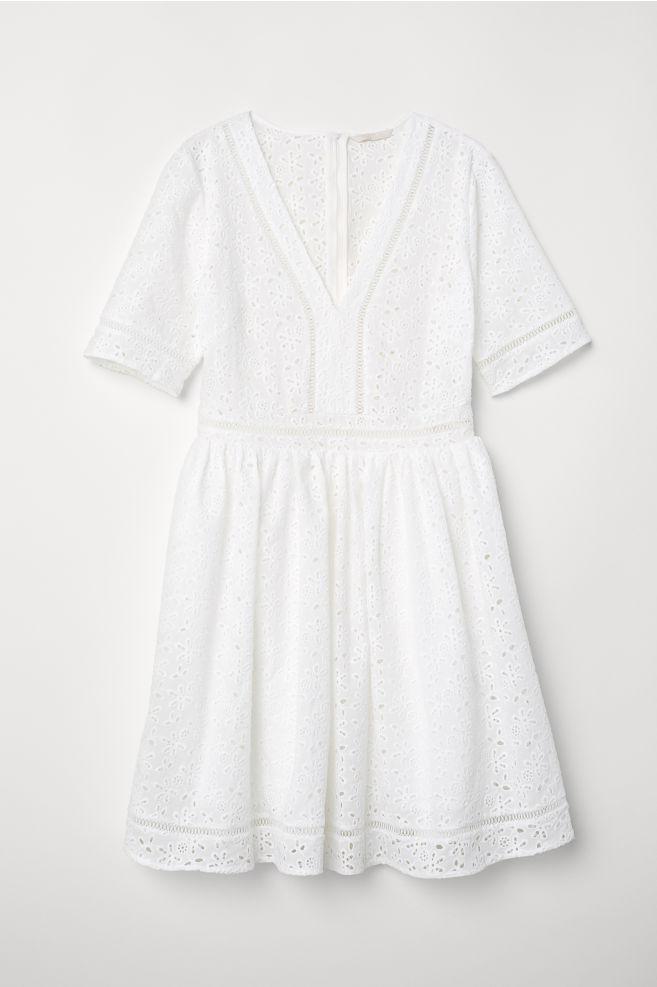 Hímzett ruha - Fehér - NŐI  728a09024c