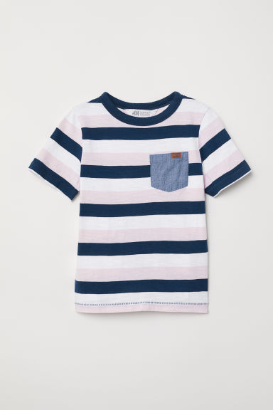 Patterned T-shirt - Light pink/Striped - Kids | H&M CN