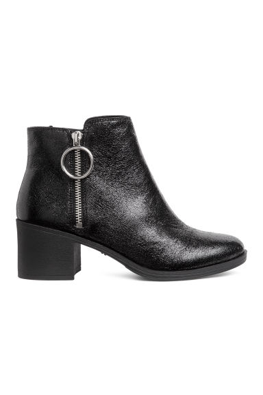Ankle boots with a zip - Black - Ladies | H&M IE