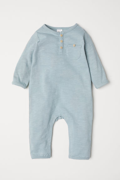 Slub jersey all-in-one suit - Light turquoise - Kids | H&M