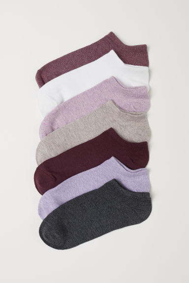 7-pack trainer socks - Dark red marl - Ladies | H&M