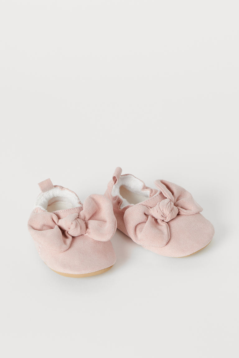 Soft slippers - Powder pink - Kids | H&M IN