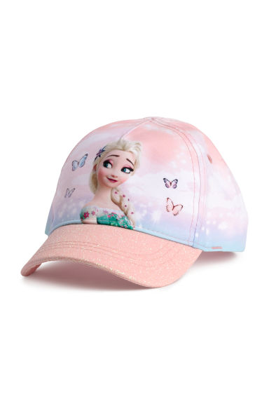 Cap with a glittery peak - Pink/Frozen - Kids | H&M CN