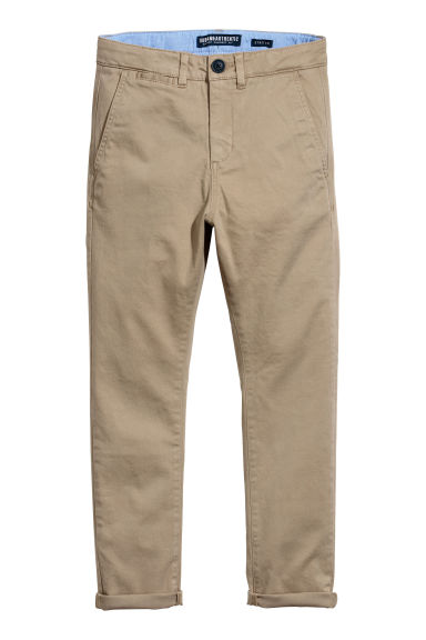 Slim Fit Chinos - Dark beige - Kids | H&M CA