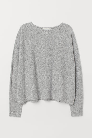 Top with dolman sleeves - Light grey marl - Ladies | H&M
