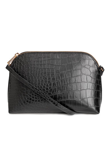 Shoulder bag - Black/Grained -  | H&M