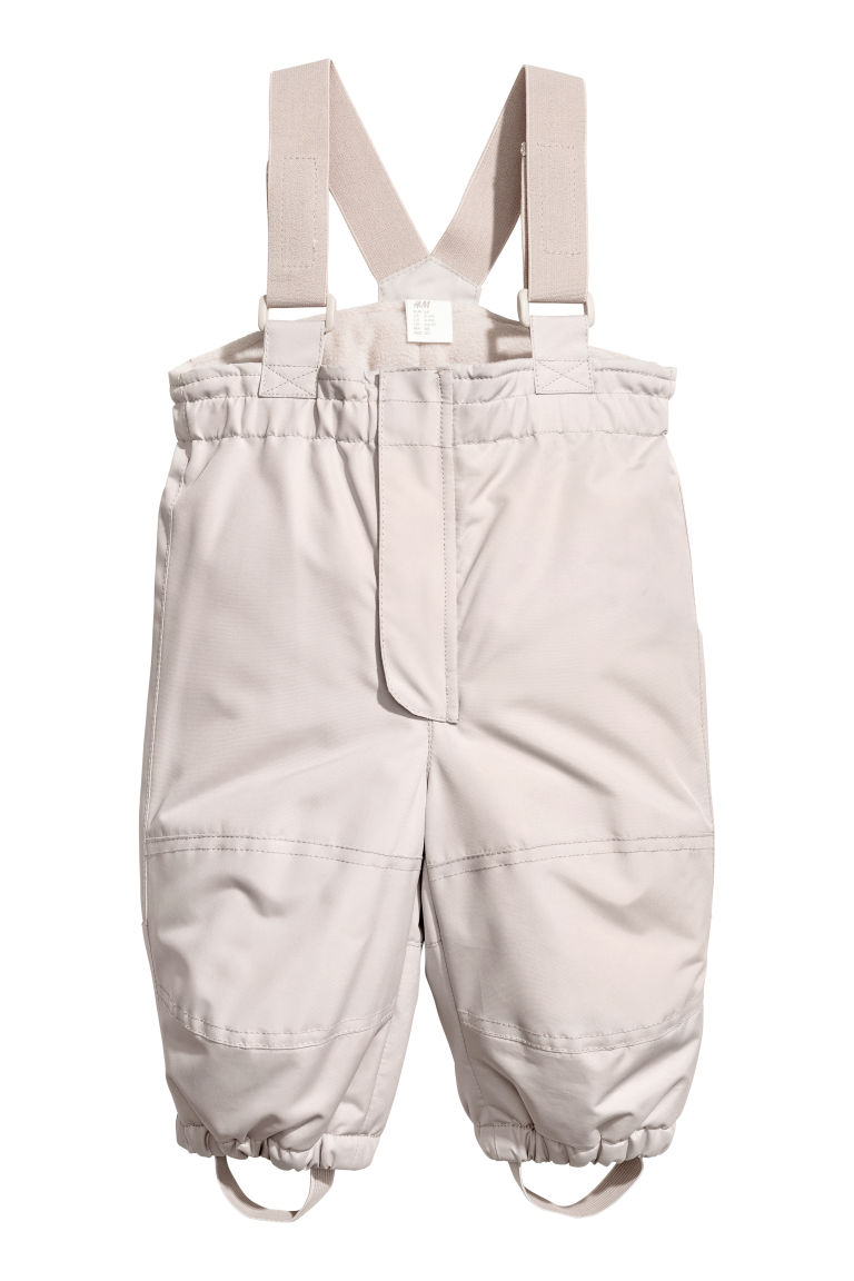 Outdoorbroek met bretellen - Taupe - KINDEREN | H&M BE