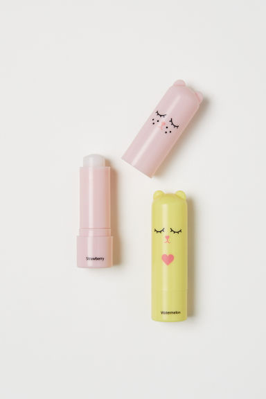 2-pack flavoured lip balms - Yellow/Pink - Kids | H&M