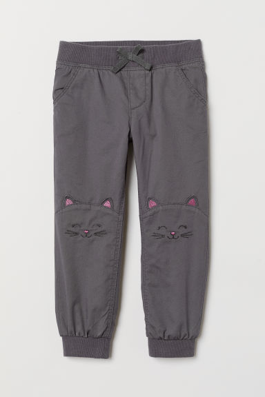 Lined joggers - Dark grey - Kids | H&M