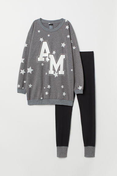 Pyjamatrui en -legging - Grijs gemêleerd/AM - DAMES | H&M BE